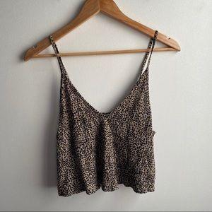 Urban Outfitters leopard print boho flowy tank top